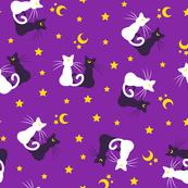 Moon Kitties - Purple