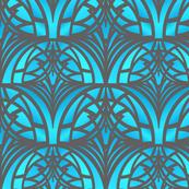 Bright Blue Art Deco Pattern