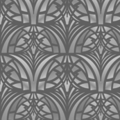 Gray Art Deco Pattern