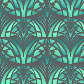 Green Art Deco Pattern