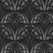 Dark Gray Art Deco Pattern