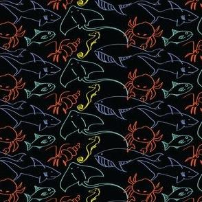 Sea creatures-dark