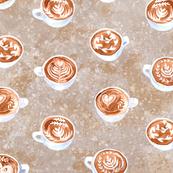 Coffecups watercolor