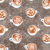 coffecups dark watercolor