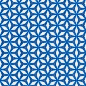 Moroccan Style Blue White Starflake