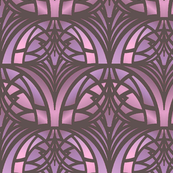 Pink Art Deco Pattern
