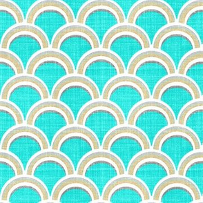 Turquoise scallop