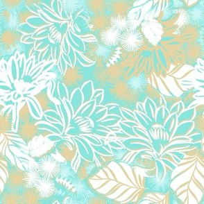 Bay Breeze tropical cactus in turquoise