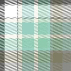 Saturday plaid in sea glass
