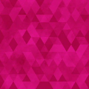 Watercolour Polygonal Triangles - Magenta