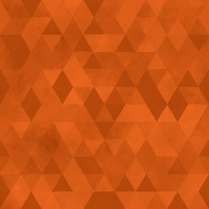 Watercolour Polygonal Triangles - Orange