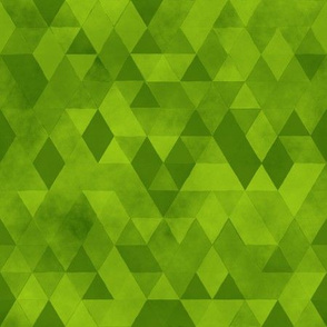 Watercolour Polygonal Triangles - Lime Green