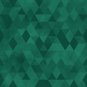 Watercolour Polygonal Triangles - Green