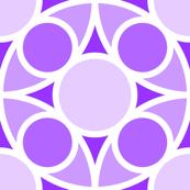 R4X circle mix : violet lilac mauve