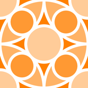 R4X circle mix : orange peach