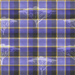 Wild Tartan Background (Slate Blue)