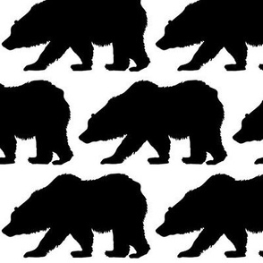 Grizzly Bear Silhouette