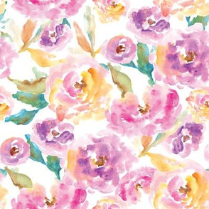 Wild Watercolor Flower Pattern