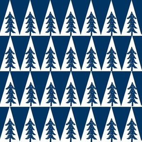 trees // forest trees camping fall autumn forest kids navy blue boys room tree