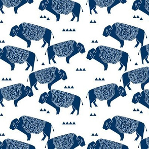 buffalo // kids camping forest western buffalo american navy blue outdoors boys fabric for boys rooms boys clothing home sewing boys