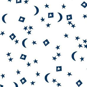 stars // little dreams stars navy blue moon stars kids nursery baby sweet navy blue coordinating fabric for nursery baby