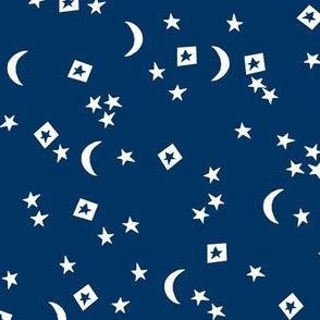 stars // little dreams stars navy blue moon and stars kids room navy blue kids design