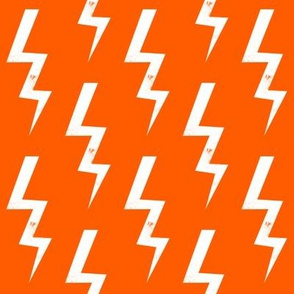 orange bolt halloween scary halloween fabric  lightning bolt