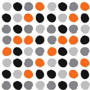 grey orange black painted dots dots kids