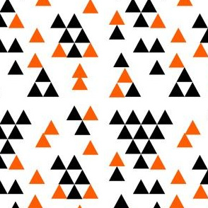 black and orange halloween fabric triangles halloween fabric coordinate