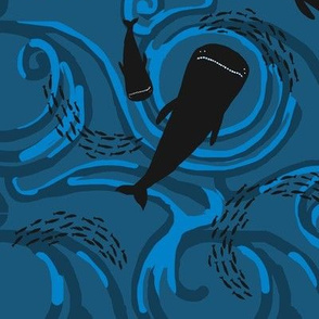 Under sea, whales above - 4
