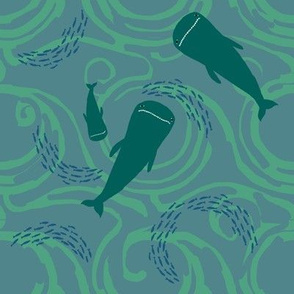 Under sea, whales above - 3