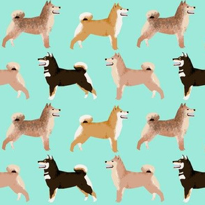 shiba inu dogs coat colors mint cute dogs dog fabric Japanese dogs fabric