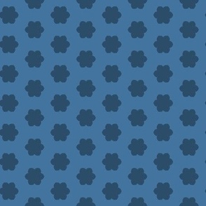 Little Blue Dogs - Floral