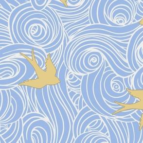 Large Scale Take Flight // Dreamy Blue