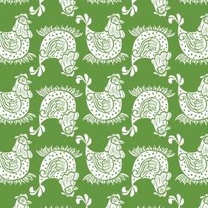 Chicken Nest Linocut Block Print