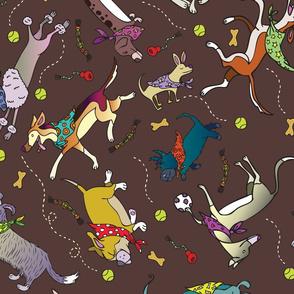 Happy Dogs in Kerchiefs by HappyArt