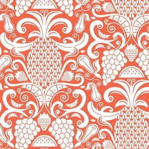 Ambrosia - Fruit Damask Coral White