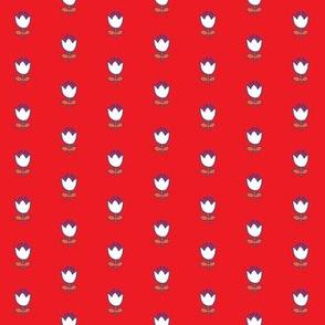 Little flower - white on red