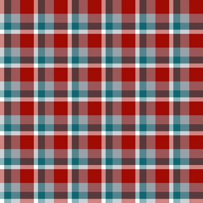 Teal and Maroon Christmas Plaid