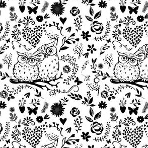 Mommy & Me Owls - Black and White