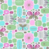 butterfly block - lavender