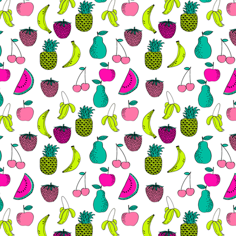 Fruit fruits summer tropical fun bright watermelon for Bright childrens fabric