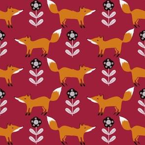 fox // fall autumn foxes scandi kids burgundy
