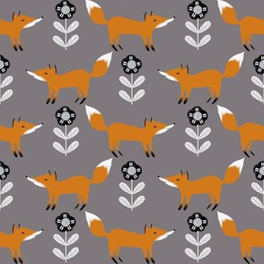 fox // fall autumn woodland grey foxes