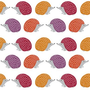 hedgehog // fall autumn hedgie cute woodland animal fabric