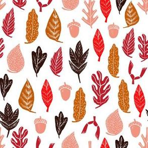 fall leaves // autumn leaves oak acorn leaf fall autumn leaves
