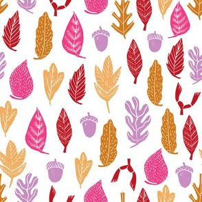 autumn leaves // fall autumn oak acorn autumn maroon purple rich colors