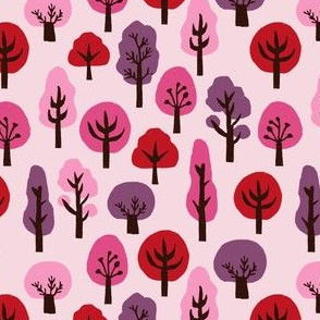 autumn // fall trees pink purple girls fall autumn woodland forest kids cute