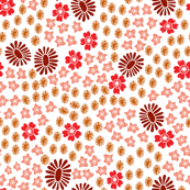 autumn flowers // fall autumn stamps block print linocuts