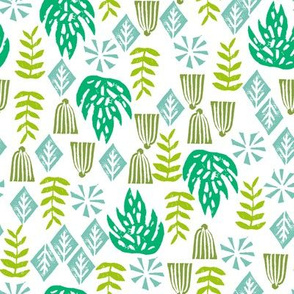 tropical palm // palm print tropical linocut palm print leaves monstera kids 2017